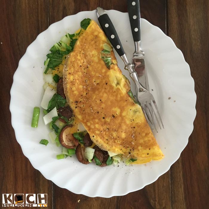 Pilz-Omelette - www.kochhelden.tv
