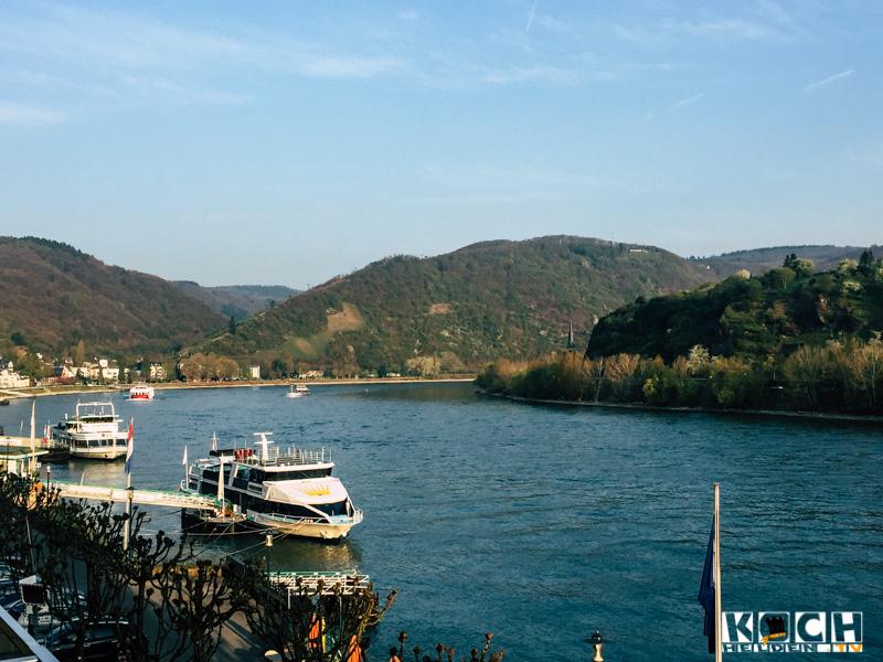 Blick aus dem Rheinhotel Bellevue - www.kochhelden.tv