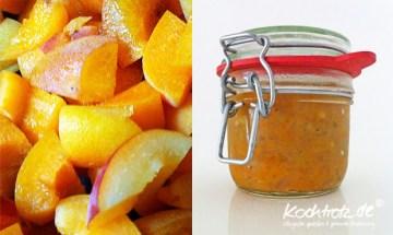 zuckerfreies Aprikosen-Schalotten-Chutney