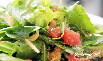 Rucoala-Salat mit Grapefruit und Fenchel