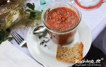Gazpacho mit Minze, Diner en Blanc 2012