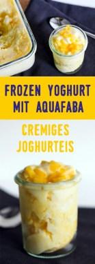 Frozen Yoghurt mit Aquafaba und Früchten | vegan oder vegetarisch