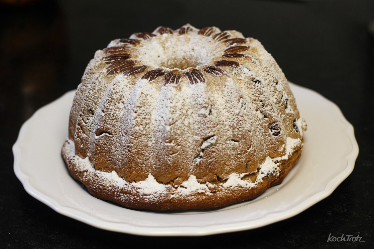 Dinkel-Gugelhupf mit Cranberries, Quark, Zimt und Vanille – meiner erster Gugelhupf – der letzte Bread Baking Day und mein letztes Rezept vor dem Relaunch