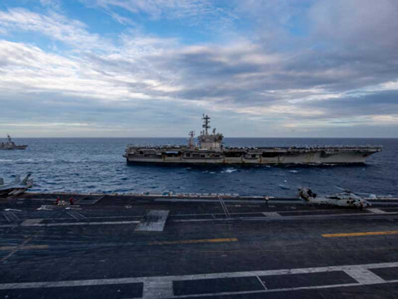 US Navy conducts dual carrier ops in South China Sea
