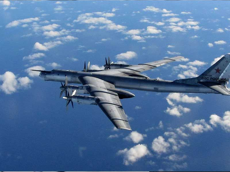 Russian Tu-95 bombers intercepted by Japan's jets