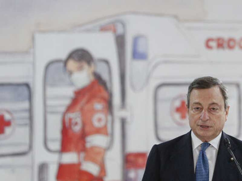 Italy's Draghi pledges vaccine boost as Covid cases surge
