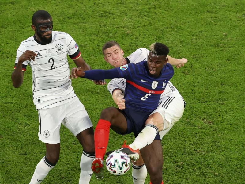 Paul Pogba removes Heineken bottle at Euro news conference