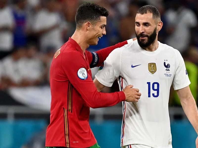Cristiano Ronaldo and Karim Benzema's bromance during Portugal 2-2 France was beautiful