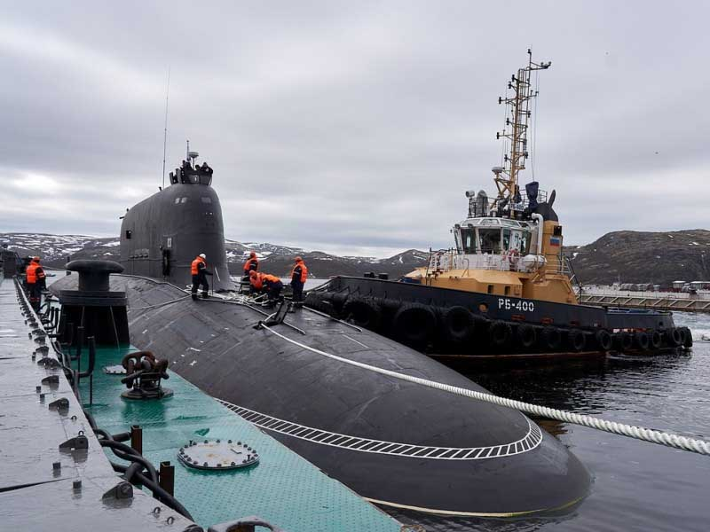 Russia's most advanced cruise missile nuclear sub arrives at Zapadnaya Litsa