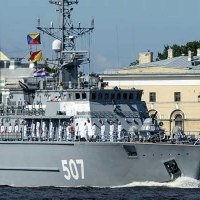 Russian Navy Day Parade Held in St. Petersburg, Russia