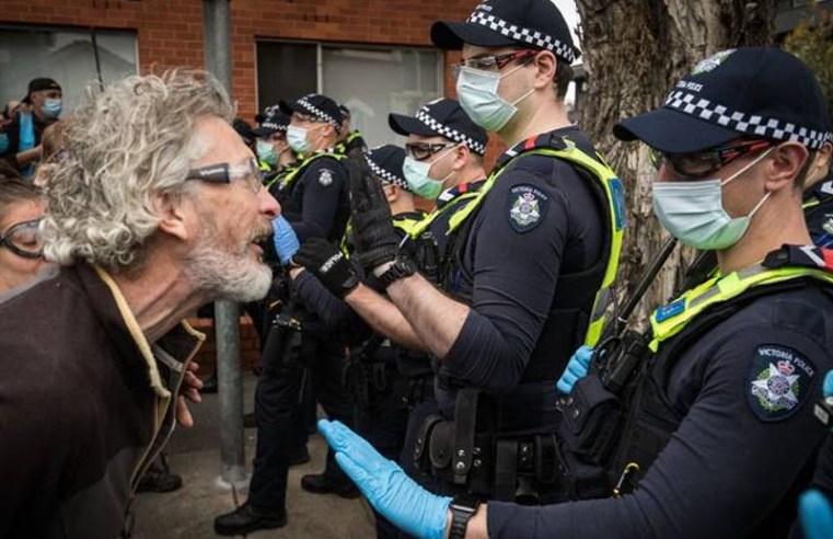Australian police arrest 235 in clash with anti-lockdown protestors