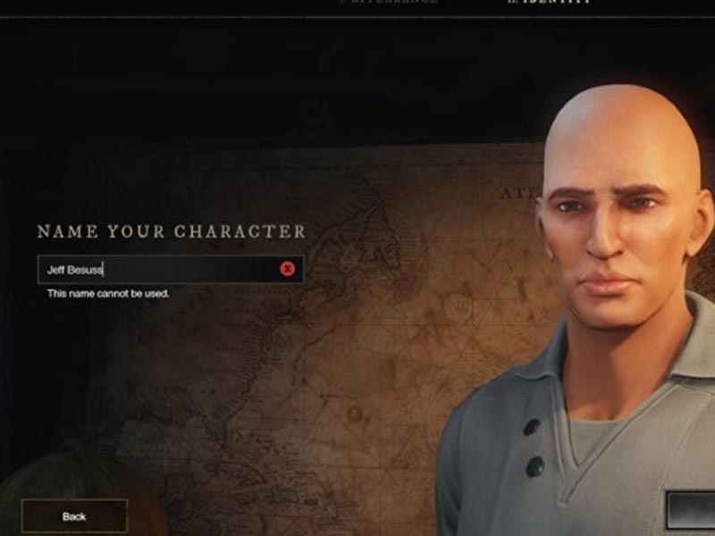 """You can't name your character """"Jeff Bezos"""" in Amazon's New World"""