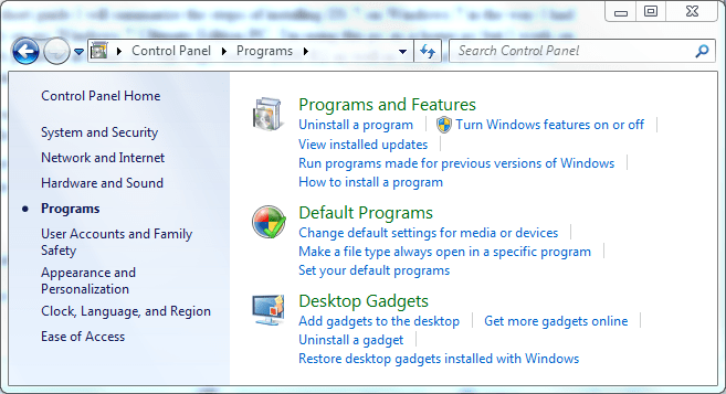iis 7 installation on windows 7
