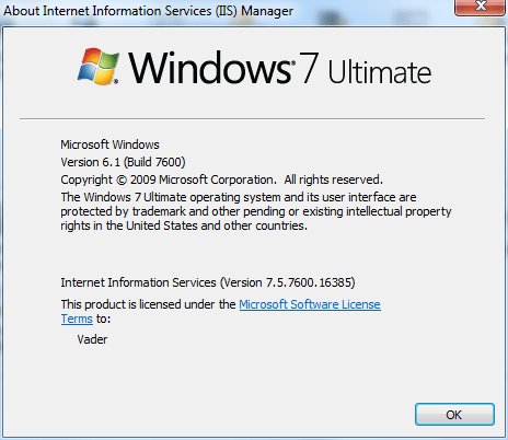 windows-7-ultimate-iis7-version-number