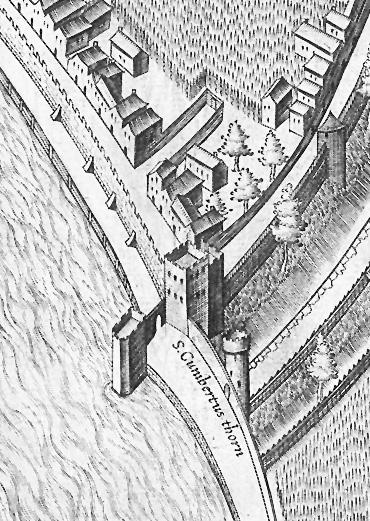 Gut zu erkennen: Das Tor, der Turm und der Ark der Kunibertstorburg