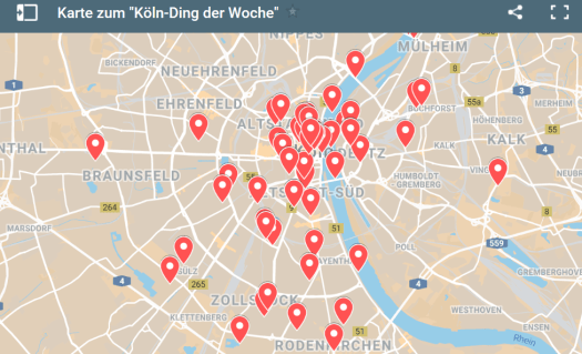 """Die Karte um """"Köln-Ding der Woche"""": Was finde ich wo?"""