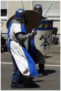 """Die """"Söldner zu Cöln"""" führen Ritterkämpfe vor, Bild: Uli Kievernagel"""