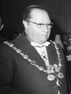 """Der Kölner Oberbürgermeister Theo """"Döres"""" Burauen, Bild: Bundesarchiv"""