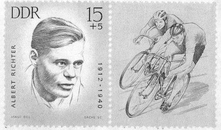 Sonderbriefmarke der DDR zu Ehren Albert Richters (1965)