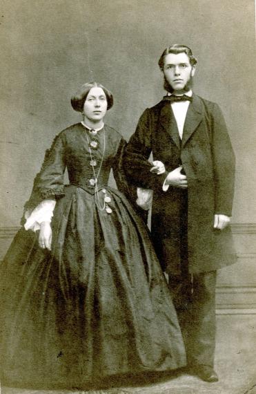 Agnes und Peter Joseph Roeckerath zur Hochzeit 1867