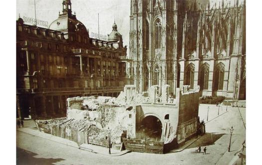 Abbruch der Hacht (1893), Bild: Kölnisches Stadtmuseum (gemeinfrei)