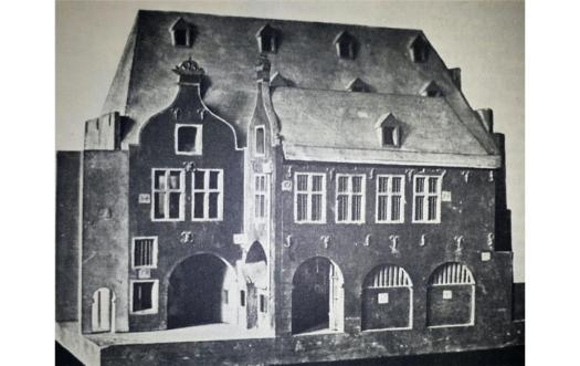 Holzmodell der Hacht von 1726, Bild: Die Kunstdenkmäler der Stadt Köln, 1930, S. 346