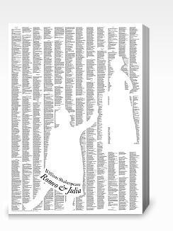 """Na, ja, """"Roman"""" ... Aber schon toll: Der ganze Text auf einem Plakat."""