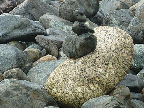 Steinpyramide Meer England