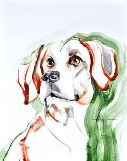 Dog A.   Acrylic on paper   70x80 cm