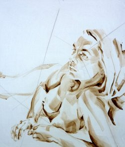 Nude Self 02| Acrylic on wooden panel | 70x50 cm