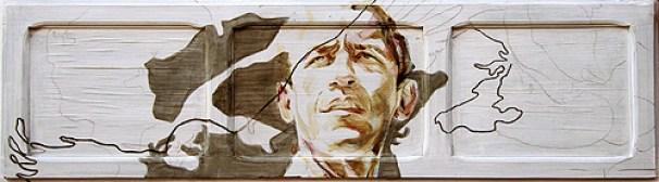 Obama on Spanish shutter