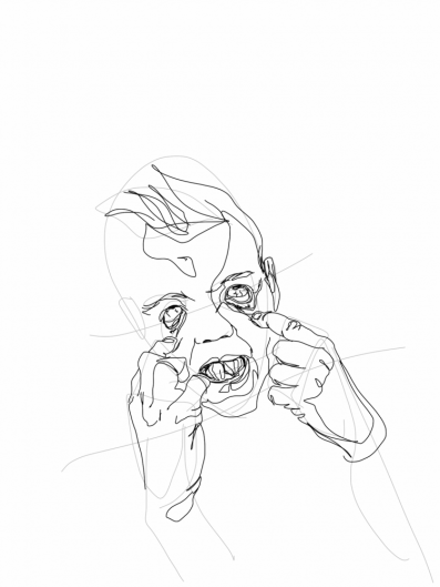 Jeppe pulling faces | digital drawing