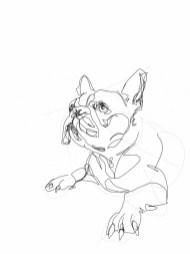 French Bulldog 03 | Digital drawing, print available A4