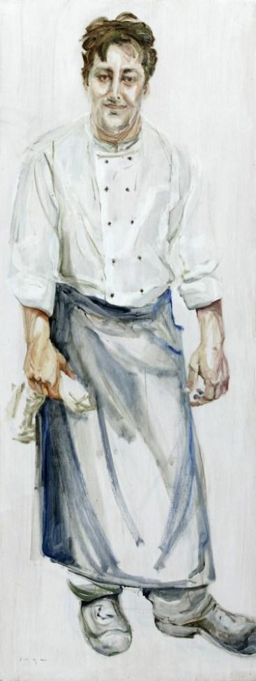 Cook | Acrylic on wooden panel | 60x120 cm