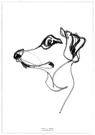 Dog drawing 01| original and print available