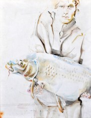 Fisherman 07 | Acrylic on sailcloth | 70x90 cm