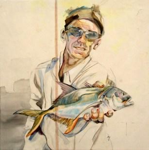 Fisherman | painting on sail