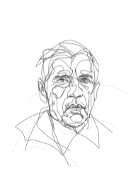 Gerard Reve   digital drawing   prints available