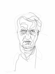 Gerrit Komrij | digital drawing | prints available