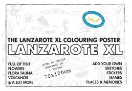 Colouring map of Lanzarote