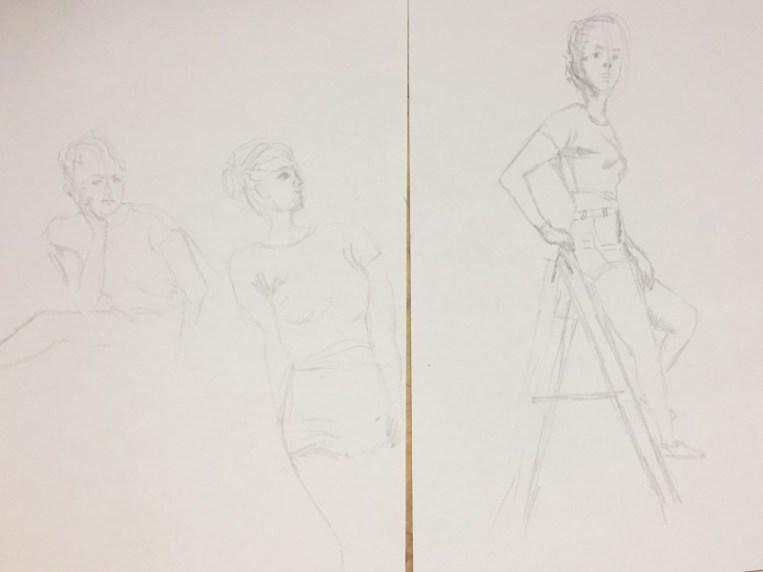 Model Dana |Schetsen Maartje