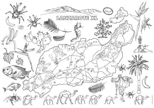 Colouring map of Lanzarote
