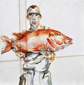 Fisherman 02 | Acrylic on sailcloth | 70x90 cm