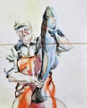 Fisherman 04 | Acrylic on sailcloth | 70x90 cm