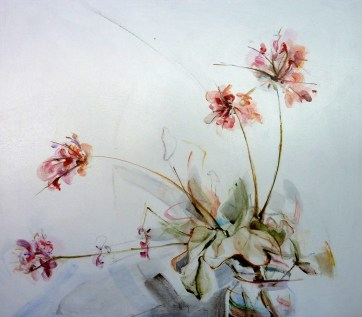 Finca Flowers 01| Acrylic on wooden panel | 70x80 cm | Kunstuitleen Alkmaar