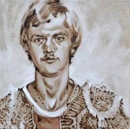 Young Louis van Gaal as Torero   Acrylic on linnen canvas  70x80 cm