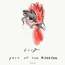 2017 Year of the Rooster   digital drawing