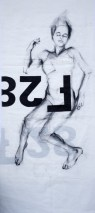 Woman Model Sail 02   Acrylic/charcoal on sailcloth   90x200 cm