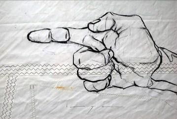 Pointing Hand |acrylic on sailcloth| 50x70 cm