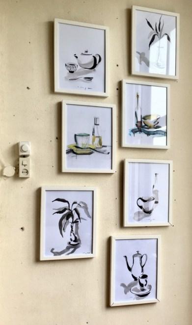 Still lifes on paper | 30 x 40 cm